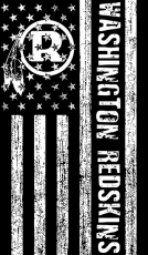 Black And White American Flag Logo Iron Ons