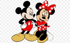 Mickey and Minnie Mouse Logo 05 iron on sticker